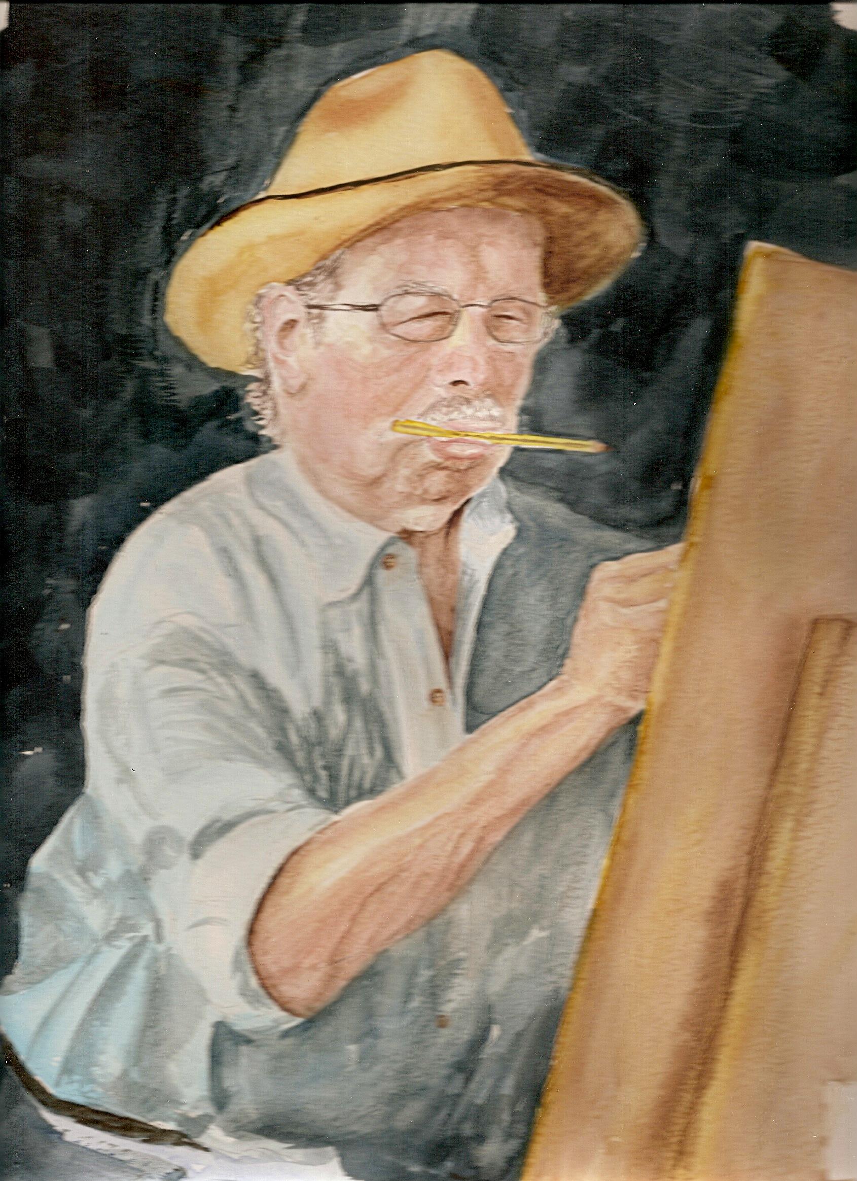 Señor pintando