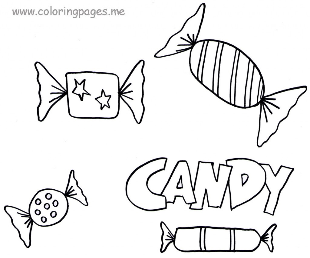 Chocolate Candy Coloring Pages Sketch Coloring Page