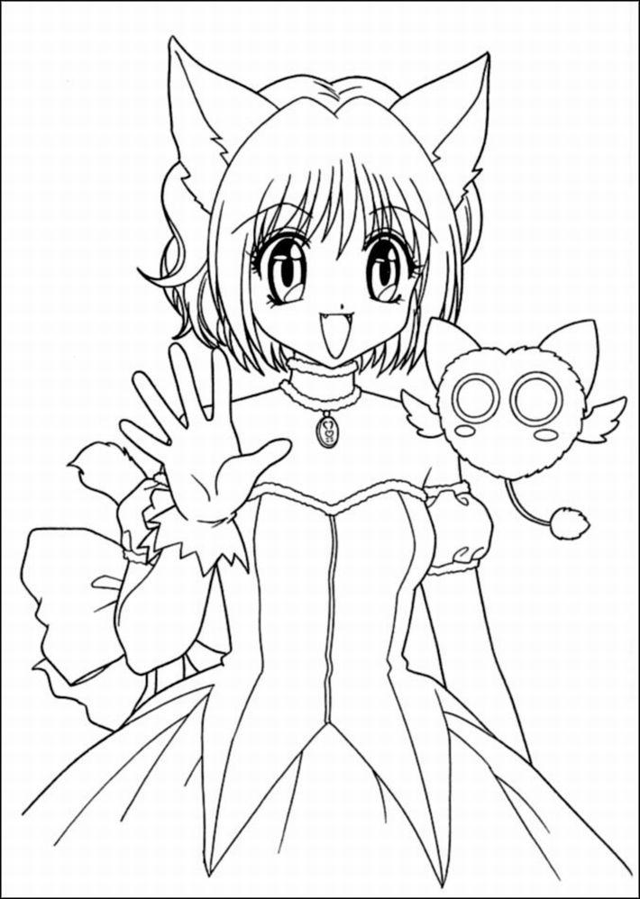Dessin De Fille 63 Dessins Coloriage Manga A Imprimer Sur
