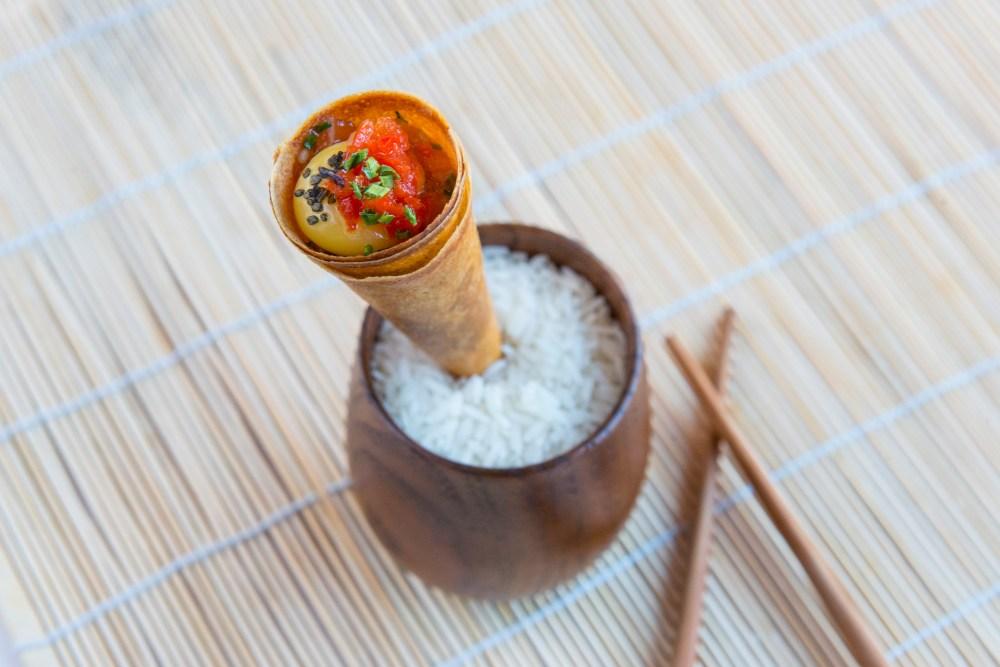 Tartar de salmón estilo coreano