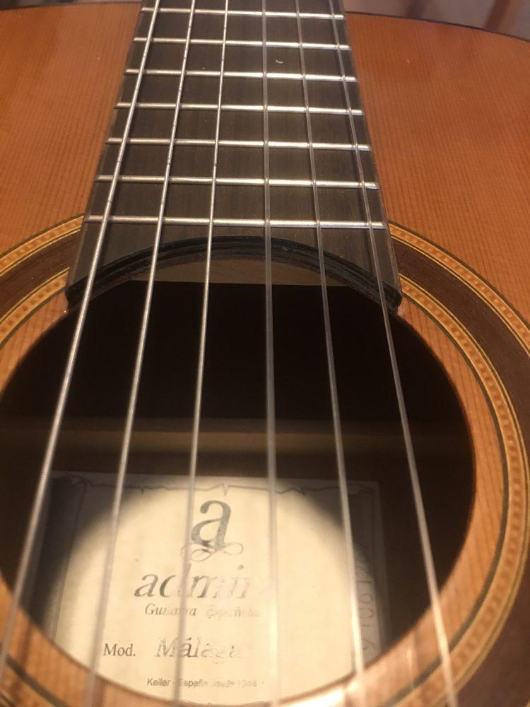 Parte de la guitarra española: Cuerdas