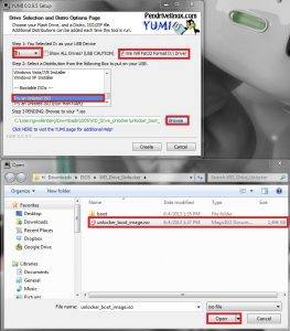 Install Unlocker Boot Image on USB Drive
