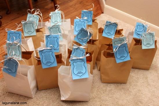 Police Appreciation Bags | LagunaLane.com