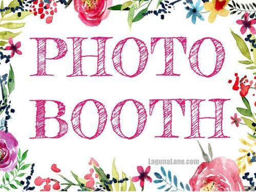 Free Printable Photo Booth Sign | LagunaLane