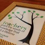 Framed Fingerprint Teacher Gift
