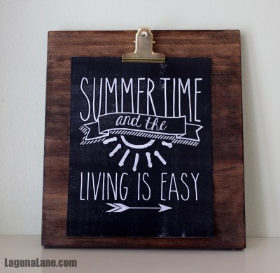 DIY Wood Photo Clipboard - Summer Display | Laguna Lane