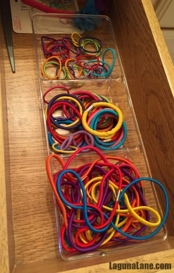 Organize Your Drawers - Hair Ties | Laguna Lane