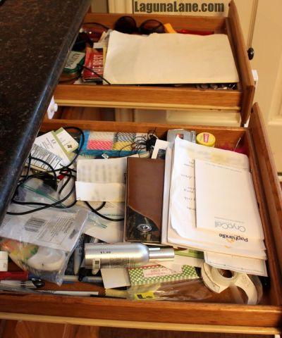 Organize Your Drawers - Messy Junk Drawers | Laguna Lane