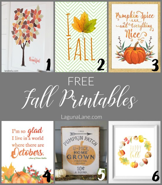 Free Fall Printable Decor | Laguna Lane