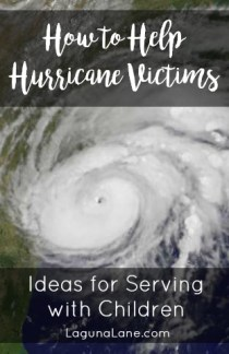 Help Hurricane Victims- Serving with Children | Laguna Lane