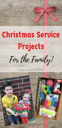 Christmas Service Projects - Kid & Family Friendly! | Laguna Lane