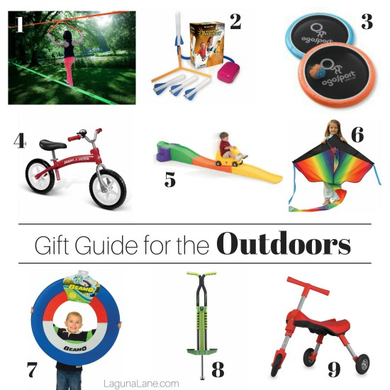 Outdoor Kids Gift Guide - Toys and Activities for Outside! | Laguna Lane