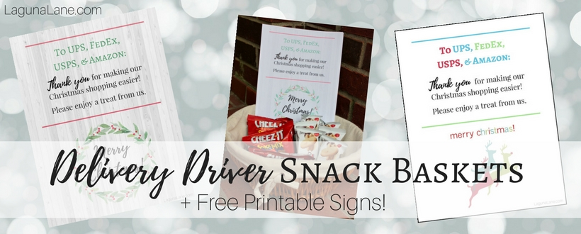 image relating to Free Printable Thank You named Shipping and delivery Driver Treats + Totally free Printable Thank Oneself Signs and symptoms