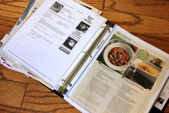 DIY Recipe Binder - Make it Easy to Find Recipes! | Laguna Lane