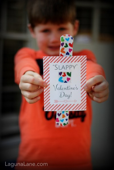 Slappy Valentine's Day - Free Printable Slap Bracelet Valentine's Day Cards - Kids Love Them! | Laguna Lane