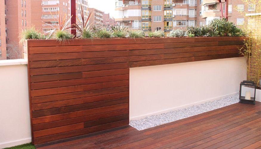 El jard n de ana un jard n de dise o para la terraza en for Madera ipe exterior