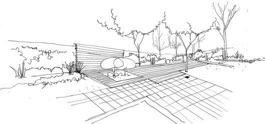 plano diseño de jardin