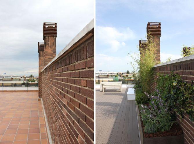 diseño de jardín en terraza