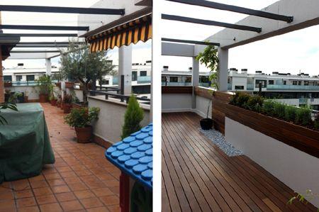 Reforma de una terraza la habitaci n verde - Reformas de terrazas ...