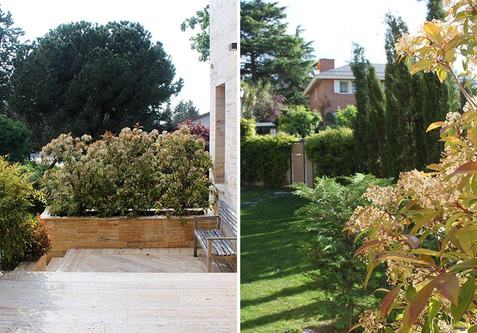 Jardín en Madrid con piscina
