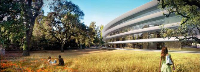 Paisajismo en las oficinas de Apple