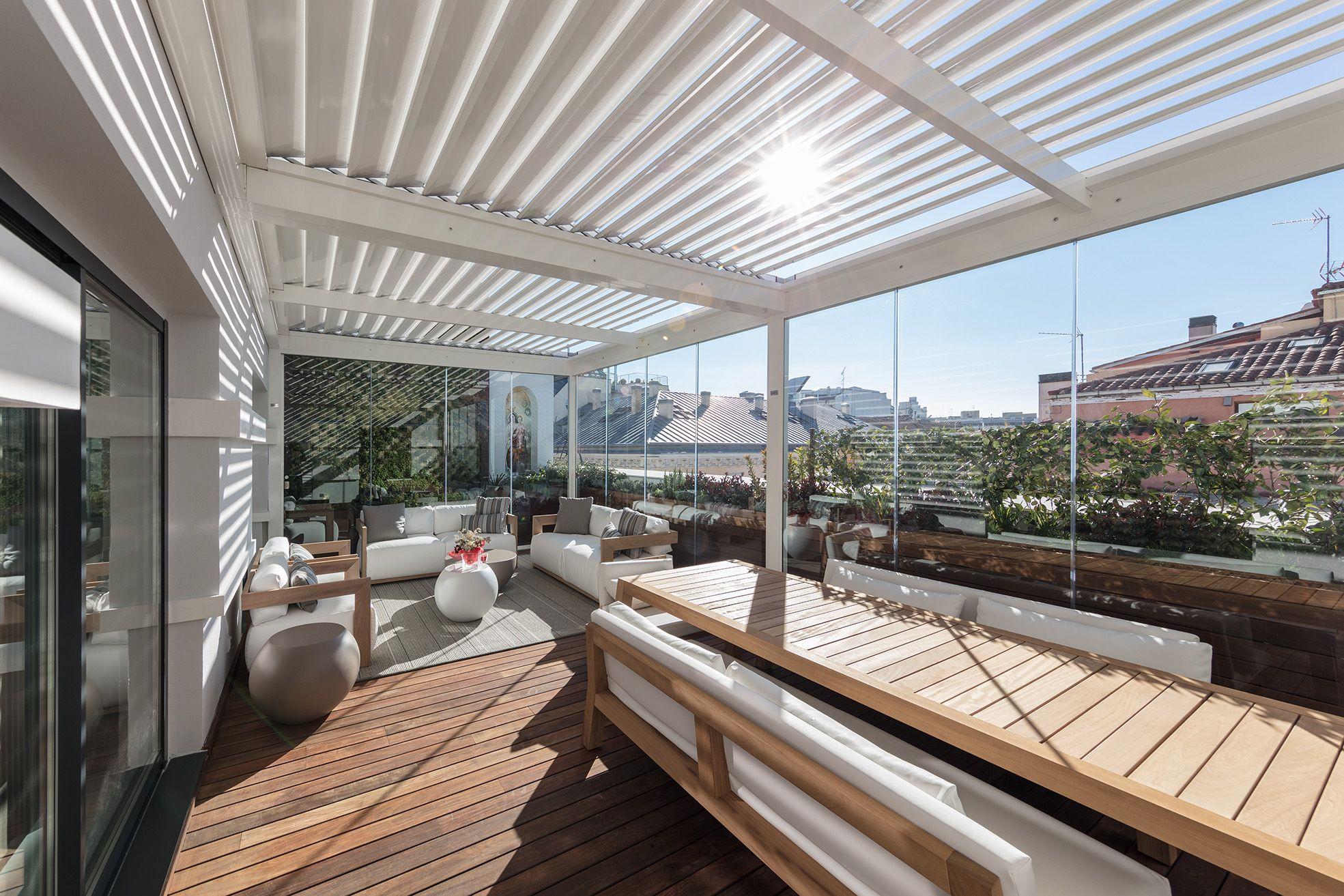 Terraza con p rgola en madrid la habitaci n verde - Pergola terraza atico ...