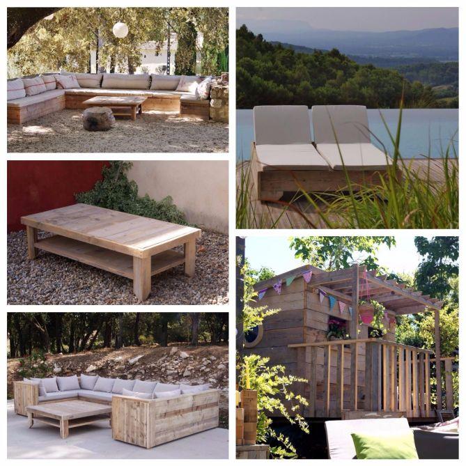 Muebles para jardín con palets