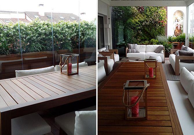 Casos de xito terraza con jard n vertical la for Jardin vertical terraza