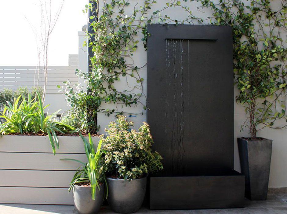 La habitaci n verde fuente de jard n - Fuentes minimalistas para jardin ...