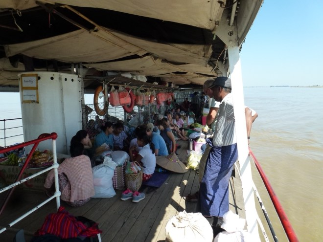 Slow boat entre Mandalay et Bagan