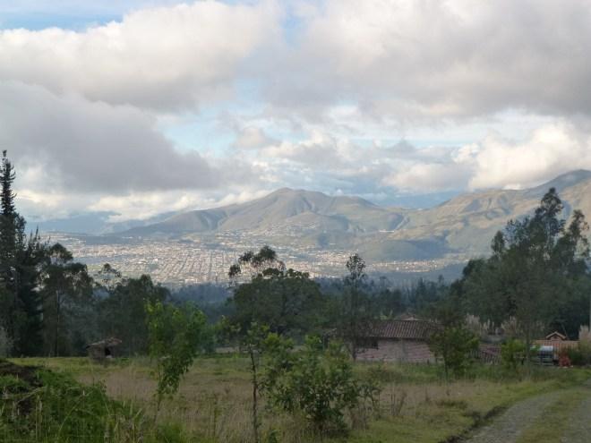 Vue d'Ibarra depuis San Clemente