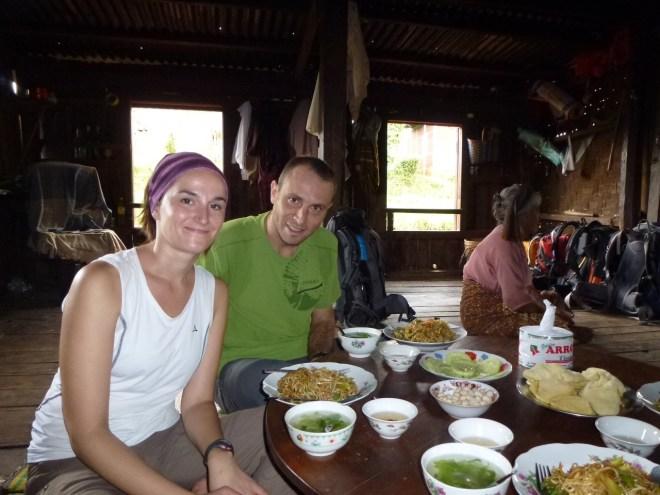 Déjeuner chez l'habitant - trek Kalaw - Lac Inle