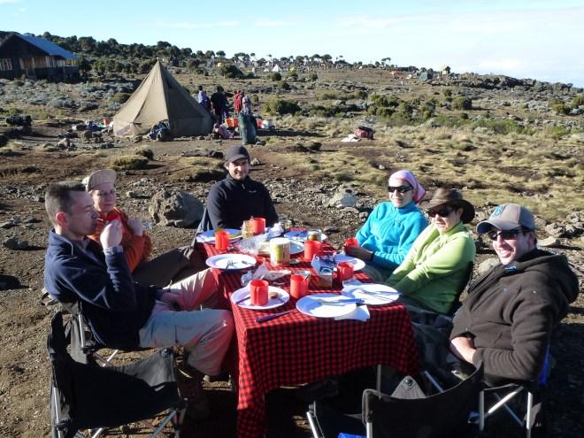 Petit-dej à Shira Camp