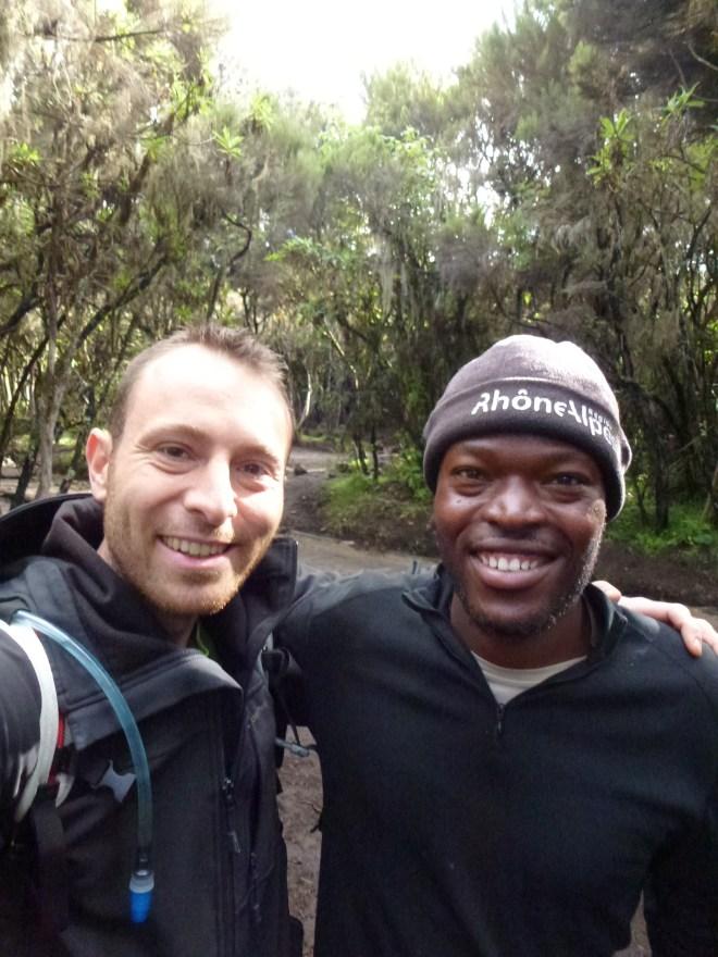 Avec Djibril Cissé et son bonnet Rhône-Alpes