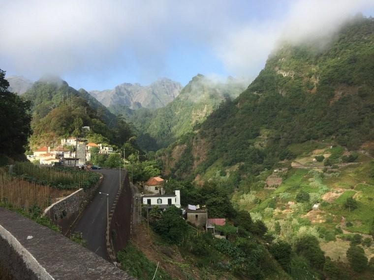 route Faial Ribeiro Frio Madère