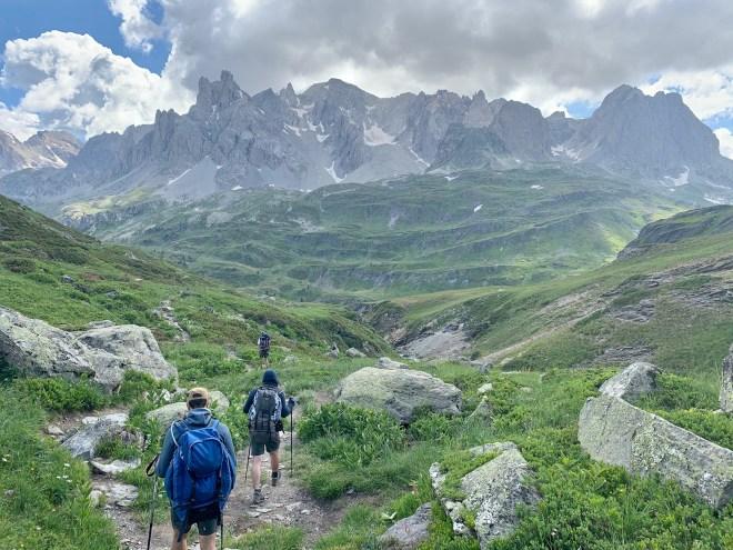 Descente refuge des Drayères, Les Cerces, Les Alpes, France