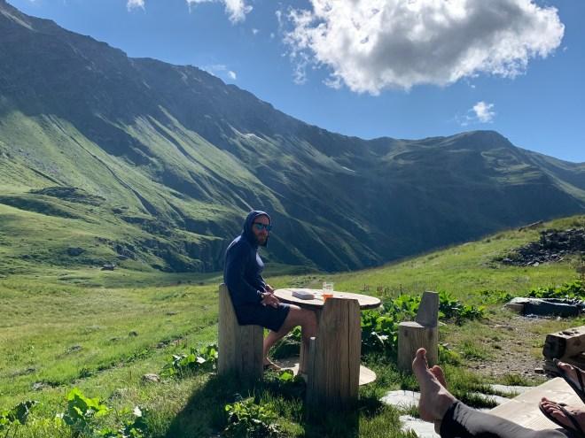 Refuge terre rouge Les cerces, Les Alpes, France