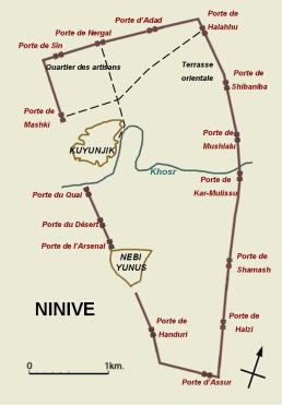 Mapa de Nínive