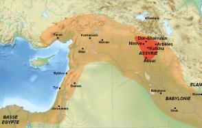 Situación de Asiria en Mesopotamia