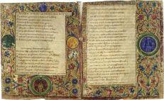 Manuscrito carolingio, en el que podemos apreciar la bella factura con la que eran realizados los mismos.
