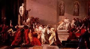 Pintura neocláseica de Vicenzo Camuccini representando la muerte de César