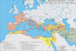 Mapa durante el segundo triunvirato