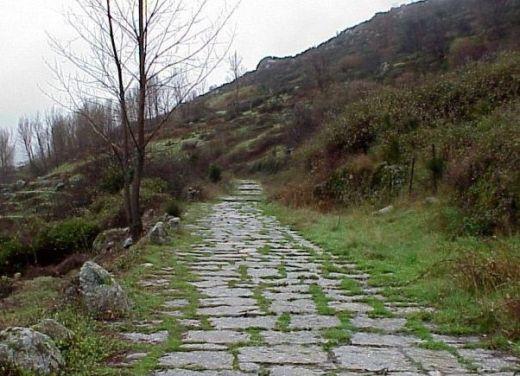 Calzada romana a su paso por Mérida