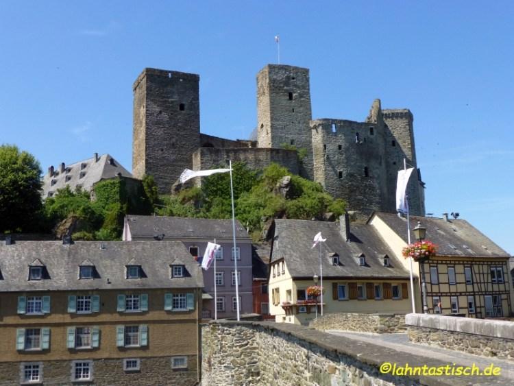 Lahnbrücke und Burg Runkel