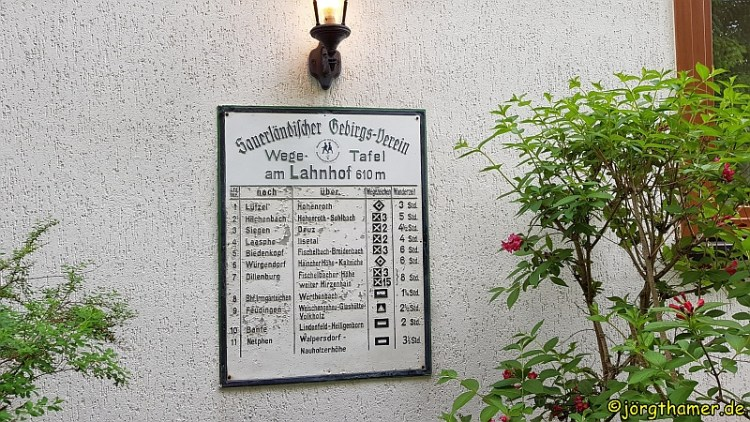 Wandertafel am Lahnhof