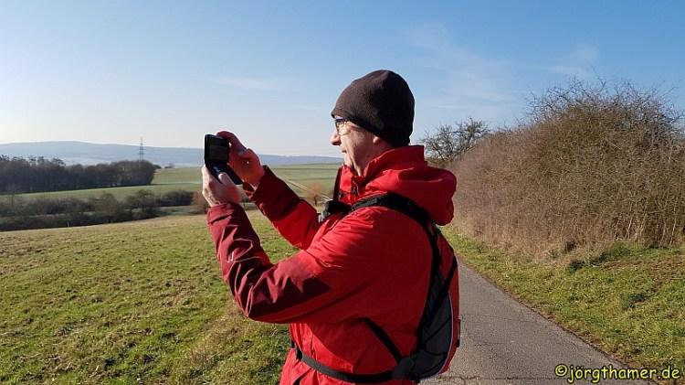 IVV-Wandertag Limburg Wanderblogger bei der Arbeit