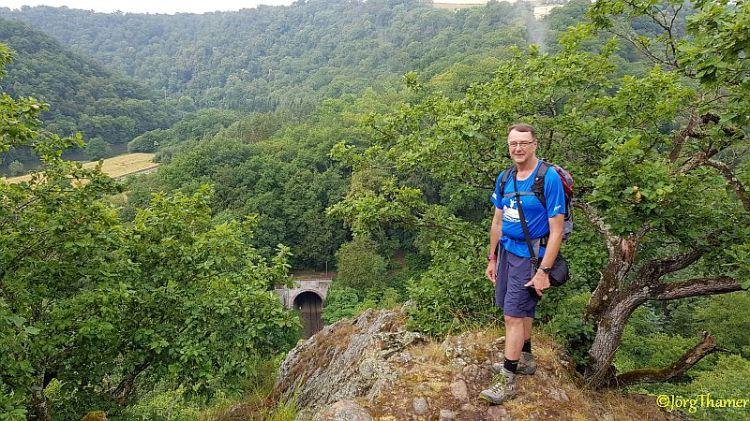 Hare Mauer - Aussicht mit Jörg