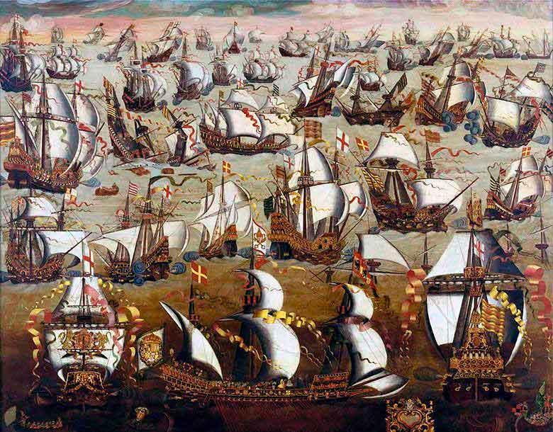 4. La Armada Invencible y un náufrago follarín