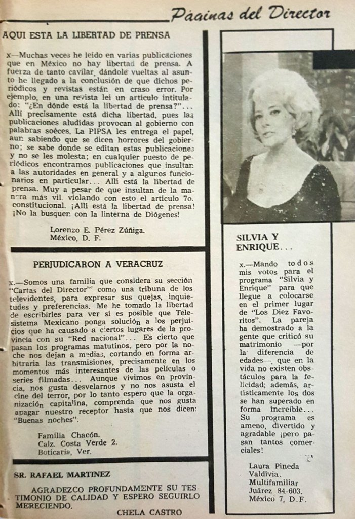 revista tele guia 1969 silvia pinal