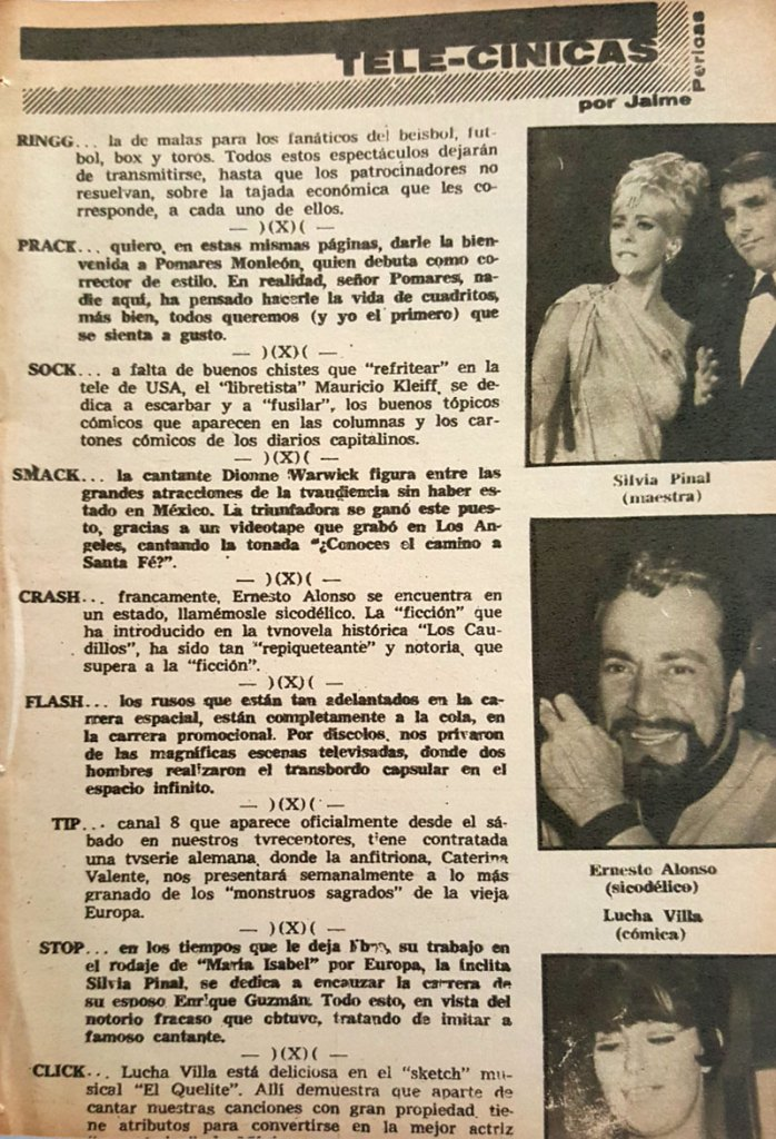 revista tele guia 1969 silvia pinal ernesto alonso lucha villa